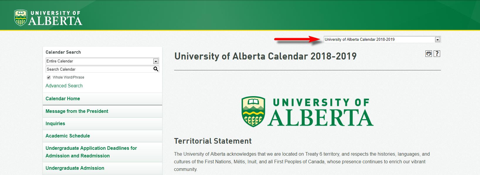 Uofa Calendar 2022.University Calendar Quick Start Guide University Of Alberta Acalog Acms